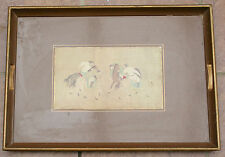 Vintage Wooden Serving Gallery Tray bears print of Japanese Polo Players
