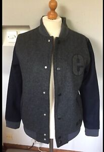 ETNIES MENS BLUE GREY MASCULINE  AMERICAN STYLE JACKET SIZE M 40-42 CHEST