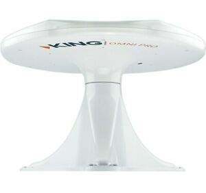 KING OmniPRO Omni-Directional Over-the-Air Amplified HDTV RV TV Antenna WHITE