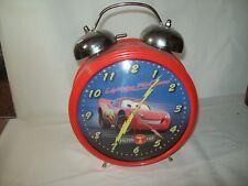 "Disney Pixar Lightening McQueen Piston Cup Large 12"" Tall Twin Bell Alarm Clock"