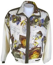 East West Silks Women Jacket vintage 1980s 1990s Usa flag M windbreaker