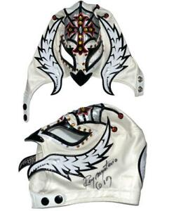 REY MYSTERIO JR 619 HAND SIGNED OFFICIAL PRO GRADE WRESTLING MASK WITH PSA LOA 8