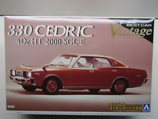 Aoshima 1/24 Scale Nissan 330 Cedric 4Dr HT2000 SGL-E Model Kit - New # 041390