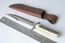 VINTAGE COMPASS SOLINGEN GERMANY STAG HANDLE 852 ORIGINAL BOWIE KNIFE Unused
