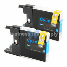 2 CYAN LC71 LC75 Compatible Ink Cartridge for Brother LC75C HIGH YIELD LC71C
