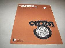Yamaha Electone Organ Course Sheet Music #4 Beautiful Brown Eyes #19 Galveston