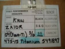 D&D Ti-Look Muffler for 2004-05 Kawasaki ZX10R-$462 NEW