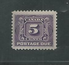 CANADA # J-4 Thin Paper Variety MLH POSTAGE DUE (5404)