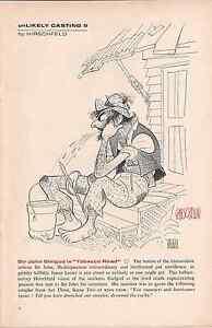 "AL HIRSCHFELD SIGNED unLIKELY CASTING Part 9  SIR JOHN GIELGUD in ""Tobacco Road"""