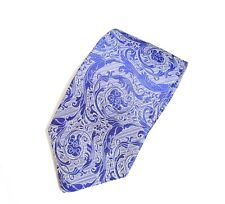 Versace Paisley 100% Silk Tie in Purple with silver New