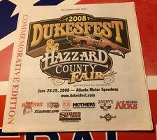 2008 Dukesfest News Paper - RARE!!!! Dukes Of Hazzard General Lee Bo Luke Daisy