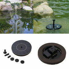 Solar Powered Water Pump Garden Fountain Pond Kit for Waterfall Water Display LE