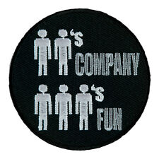 2's Company 3's Fun Stick Figure Patch, Dirty Patches