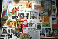 job lot of collage ephemera, c. 25 pieces, Subject: ADVERTS