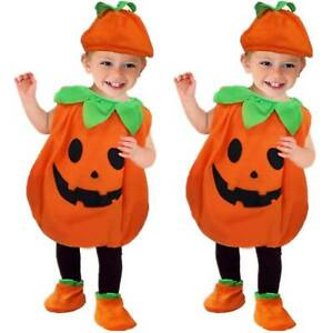 Pumpkin Cosplay Costume Kids Baby Child Toddlers Fancy Dress Party Clothing  Set