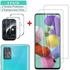 For Samsung Galaxy A51 A71 Tempered Glass Screen Protector+Camera Lens Protector