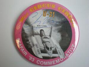 1993 MISS CIRCUS CIRCUS AUTOGRAPH SEAFAIR COMMEMORATIVE  HYDROPLANE BUTTON PIN