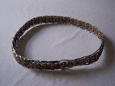 Cinturón Cinturón trenzado marrón COBRE PLATA 100 cm # GD
