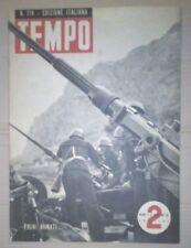 WW2 *TEMPO-RIVISTA D'EPOCA FASCISTA DEL1943*TRENI ARMATI * N.214
