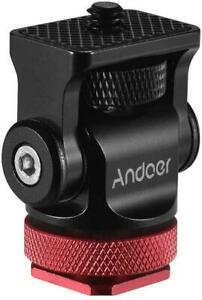 Andoer Camera Monitor Holder Mini Ball Head With Cold Shoe Adapter For LED NEW