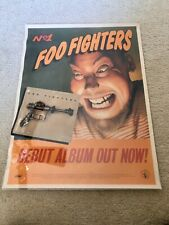 Vintage advertising poster Foo Fighters First Album Release Roswell 1995