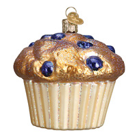 """""""Blueberry Muffin"""" (32263)X Old World Christmas Glass Ornament w/OWC Box"""