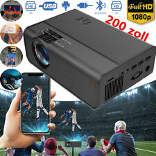 1080P Full HD LED Mini Projektor Audio Vdieo Multimedia Heimkino Beamer USB HDMI