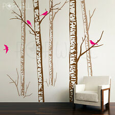 Realistic Birch Forest Tree Wall Decal Wall Sticker Trees Wall Decal
