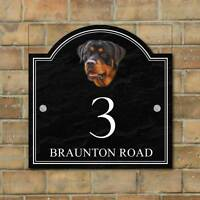 Rottweiler House name sign, Personalised House Number Plaque, Dog House Plaque