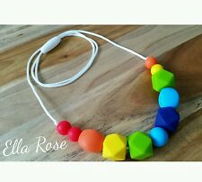 Silicone Necklace for ages 3+ Jewellery No BPA Adjustable Girls Womens Non-toxic