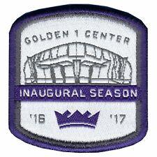 2016 Official Sacramento Kings Inaugural Season At Golden 1 Center Jersey Patch