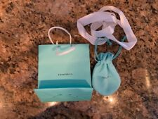 Tiffany Pull String Pouch For Bracelet Necklace.  Bag, pouch & ribbon