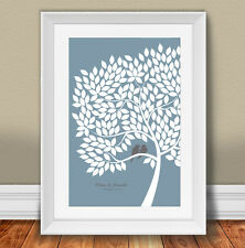Wedding Guest Book Poster Signature Alternative kit 20x30 Inches with 200 leaves