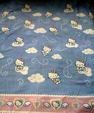 Hello Kitty Shower Curtain Fabric Clouds Angel Pink Blue Sweet Dreams Bathroom