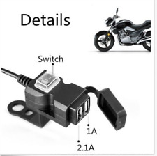 Motorcycle Power Outlet Dual USB 2.1A - 1A  Port Charger Adapter