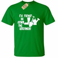 I'd rather be down the allotment T Shirt Mens Gardening Funny gift gardener