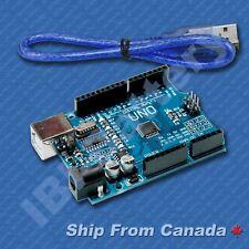 UNO R3 Arduino compatible - ATMEGA328, CH340G USB + USB Cable - SHIP From Canada