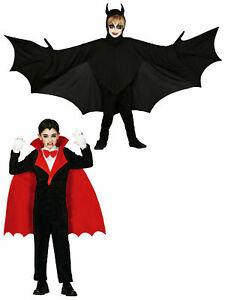 Childs Vampire Bat Costume Boys Count Dracula Halloween Fancy Dress Kids Scary