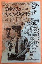 RARE 1983 SOCIAL DISTORTION FLYER EFFIGIES @ BROADWAY THEATER PUNK KBD HARDCORE!