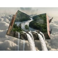 5D Full Drill Diamond Painting Waterfall Cross Stitch Kits Embroidery Art Decor
