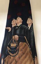 Original Norman Rockwell Men Neck Tie Art Painting Watson Brothers Silk Men