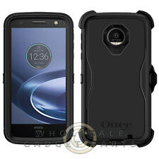 Motorola Moto Z Force Defender Case - Black Guard Shield Protection