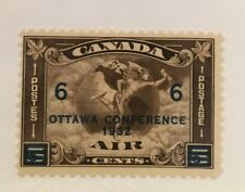 Canada Scott C4 Ottawa Conference Overprint Six Cent-Mint
