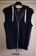 Mens zip up hoodie Size XS, Sleeveless, Blue,