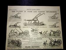 1884 Planet Jr. Farm & Garden Implements Advertising San Francisco - California