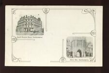 Hampshire Hants SOUTHAMPTON  Hotel & Bargate views + art nouveau 1907 PPC