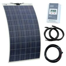 250W 12V/24V solar charging kit for canal boat narrowbeam widebeam dutch barge