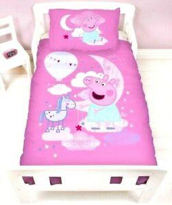 PEPPA PIG  Junior Cot Bedding Set Toddler Cotbed Duvet Cover 50% cotton