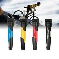 Mini Portable Light Bike Cycle Bicycle Type Air Pump Tire Inflator Tube + Valves