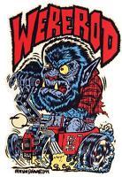 Were-Rod STICKER Werewolf Hotrod Burnout Decal Ben Von Strawn BV34